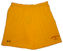 UA gold shorts